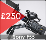 Sony F55 camera hire central london at the gear factory