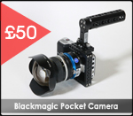 Blackmagic pocket camera gear factory hire rental