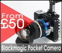 Blackmagic pocket camera gear factory hire rental London £50